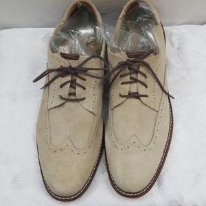 11.5 Florsheim Oxford Tan Suede Leather